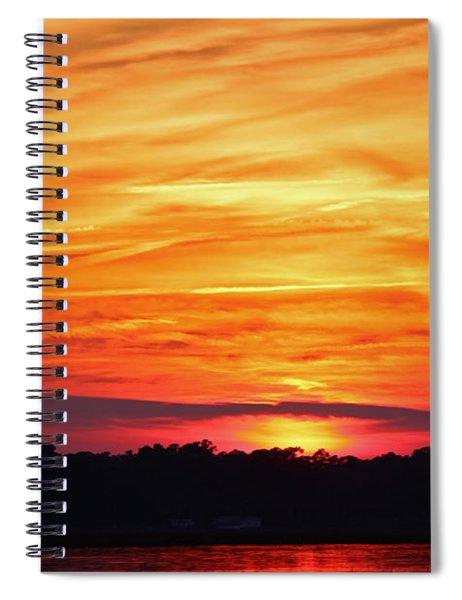 God Paints The Sky Spiral Notebook