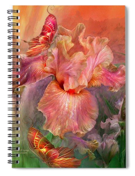 Goddess Of Spring Spiral Notebook
