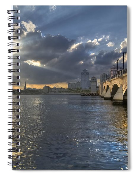 God's Light Over West Palm Beach Spiral Notebook
