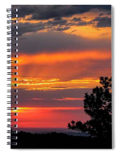 God's Spotlight Over Keystone Spiral Notebook