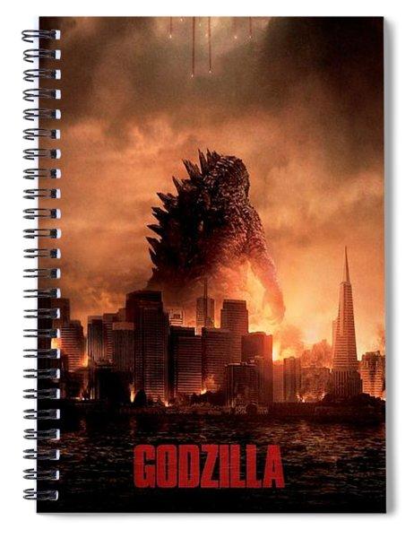 Godzilla 2014 Spiral Notebook