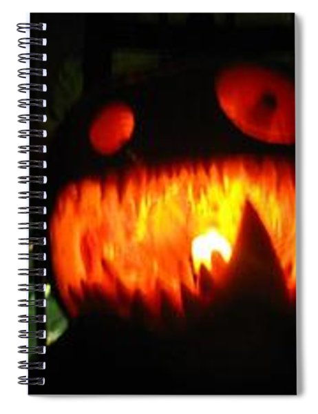Going Up Pumpkin Spiral Notebook
