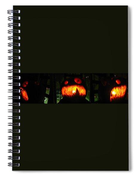 Going Up Pumpkin Spiral Notebook