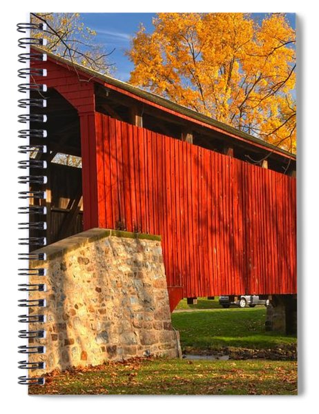Gold Above The Poole Forge Covered Bridge Spiral Notebook