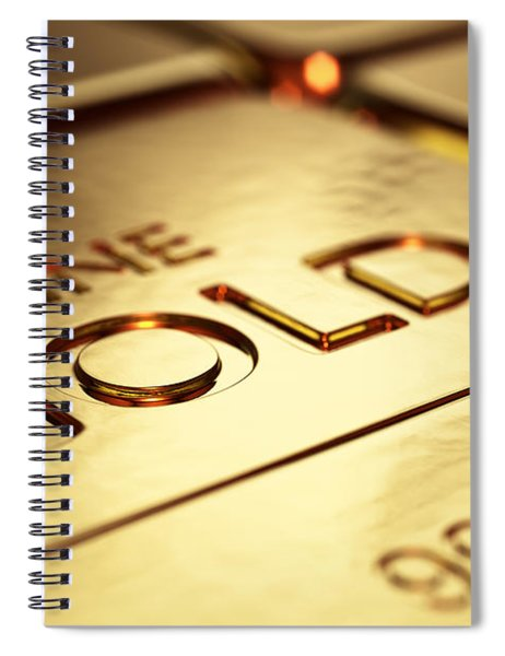 Gold Bars Close-up Spiral Notebook