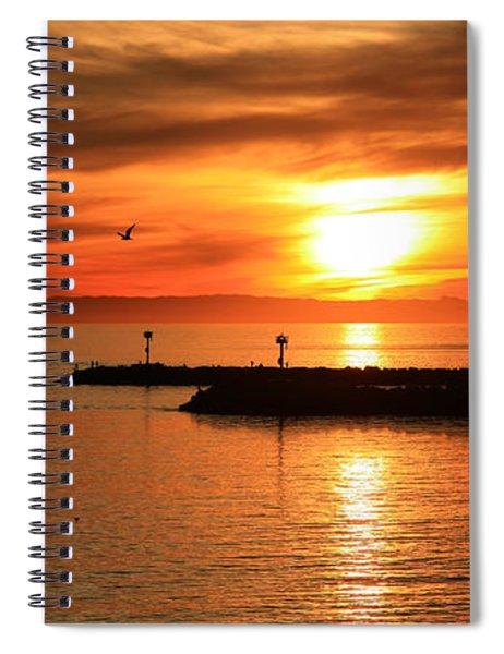 Gold Corona  Spiral Notebook