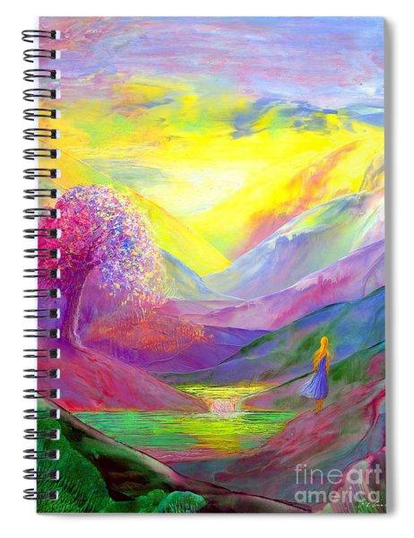 Gold Horizons Spiral Notebook