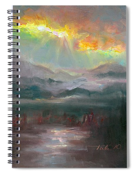 Gold Lining - Chugach Mountain Range En Plein Air Spiral Notebook