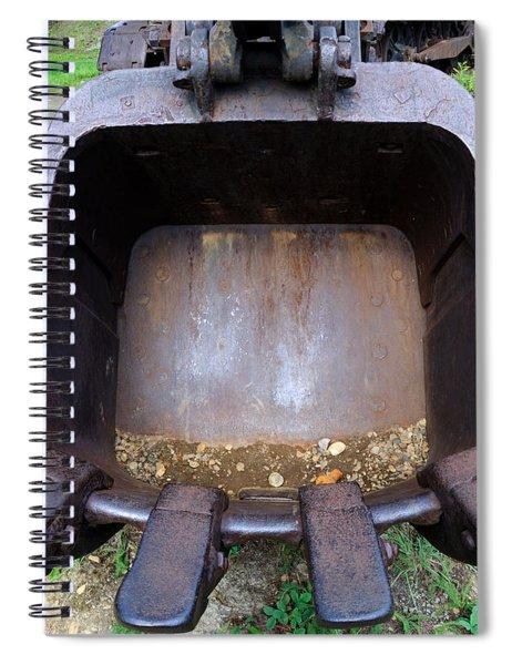 Gold Mining Steam Shovel Bucket Close-up Spiral Notebook