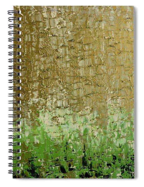 Gold Sky Green Grass Spiral Notebook