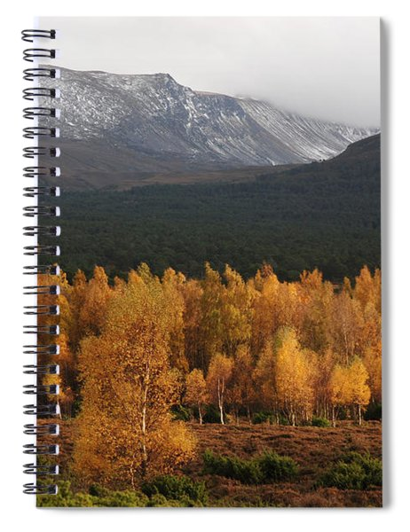 Golden Autumn - Cairngorm Mountains Spiral Notebook