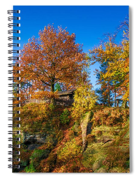 Golden Autumn On Neurathen Castle Spiral Notebook