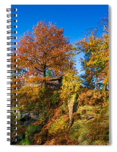 Golden Autumn On Neurathen Castle Spiral Notebook