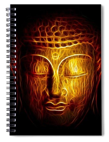 Golden Buddha Abstract Spiral Notebook