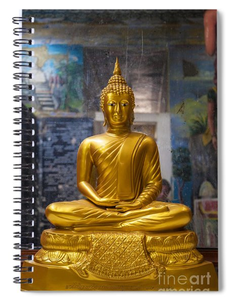 Golden Buddha In Sri Lanka Spiral Notebook