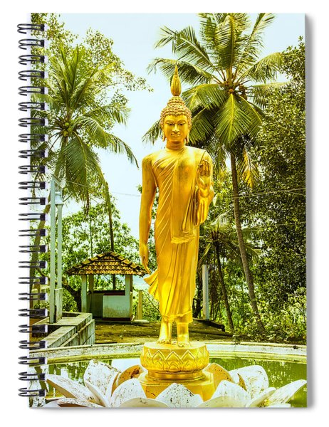 Golden Buddha On A Lotus Flower Spiral Notebook