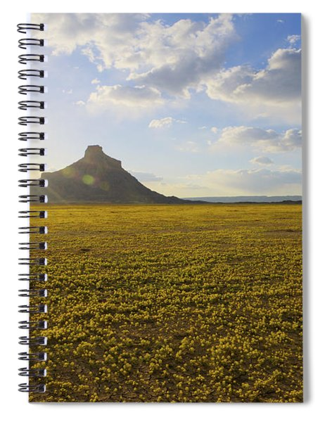 Golden Desert Spiral Notebook