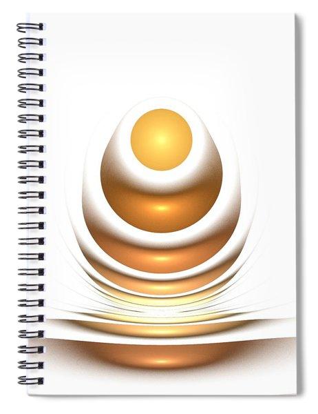 Golden Egg Spiral Notebook