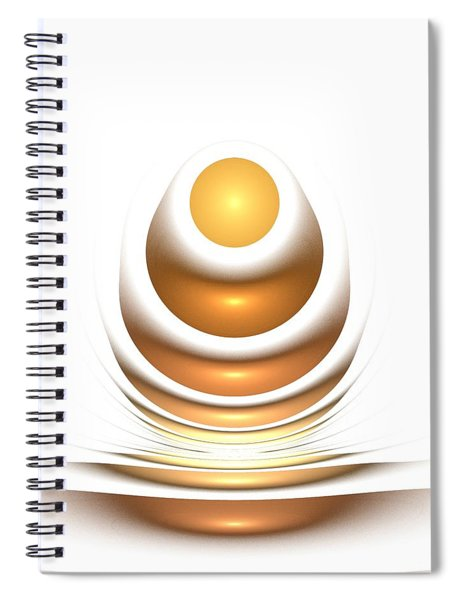 Golden Egg Spiral Notebook