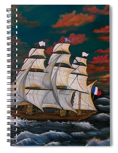 Golden Era Of Sail Spiral Notebook