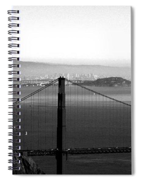 Golden Gate And Bay Bridges Spiral Notebook