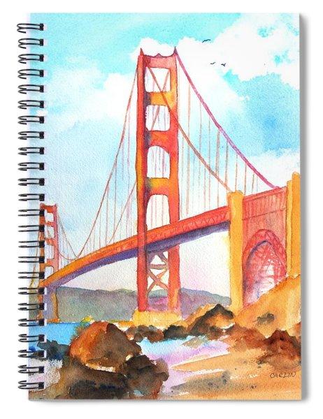 Golden Gate Bridge 3 Spiral Notebook