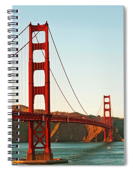 Golden Gate Bridge At Sunset Spiral Notebook