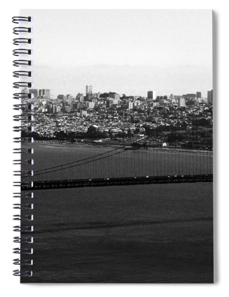Golden Gate Bridge In Black And White Spiral Notebook