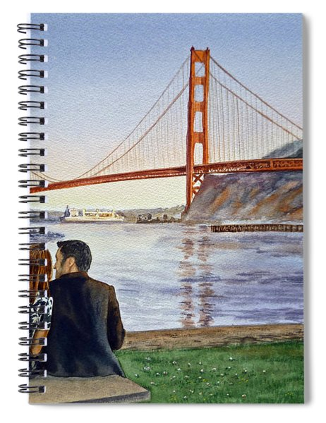 Golden Gate Bridge San Francisco - Two Love Birds Spiral Notebook