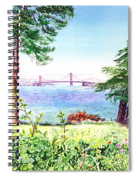 Golden Gate Bridge View From Lincoln Park San Francisco Spiral Notebook