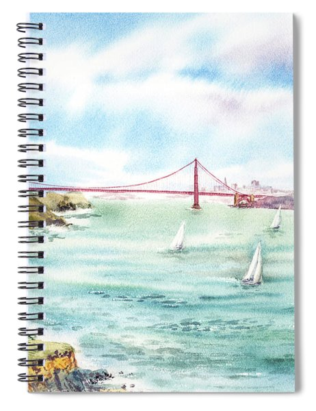Golden Gate Bridge View From Point Bonita Spiral Notebook