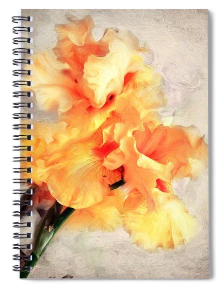 Golden Iris 1 Spiral Notebook