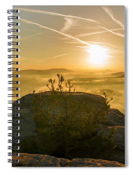 Golden Morning On The Lilienstein Spiral Notebook