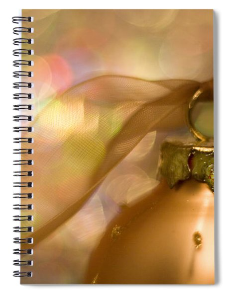 Golden Ornament With Ribbon Spiral Notebook