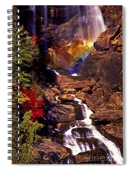 Golden Rainbow Spiral Notebook