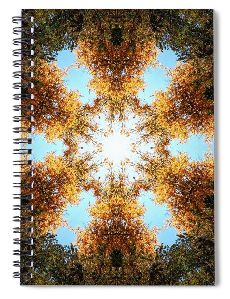 Spiral Notebook featuring the photograph Golden Shimmer K2 by Derek Gedney