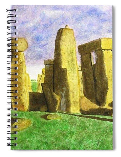 Golden Stonehenge Spiral Notebook