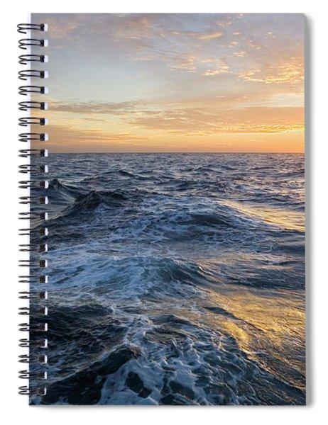 Golden Sunrise And Waves Spiral Notebook
