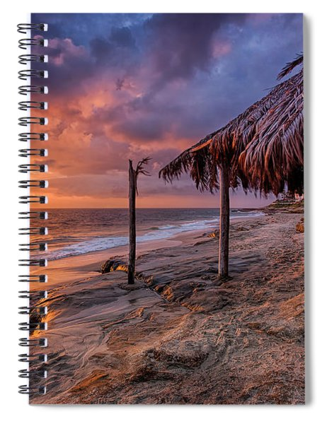 Golden Sunset The Surf Shack Spiral Notebook