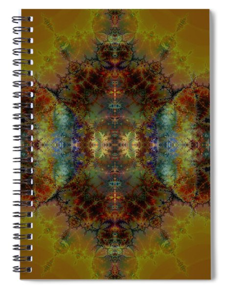 Golden Tapestry Spiral Notebook
