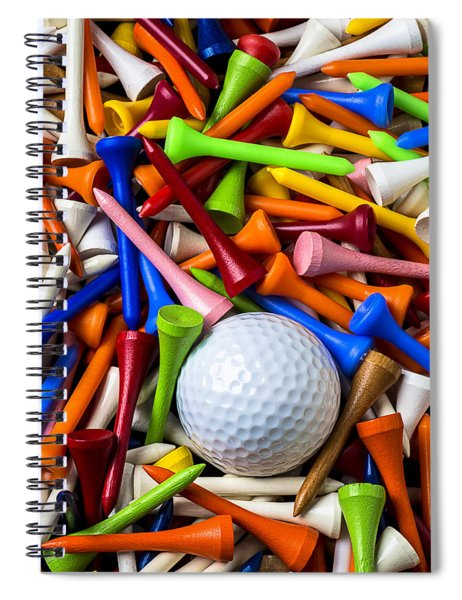 Golf Ball And Tees Spiral Notebook