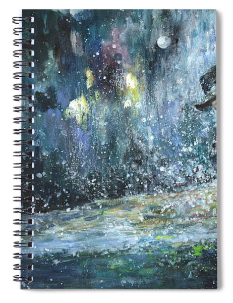 Golf Delirium Nocturnum 01 Spiral Notebook