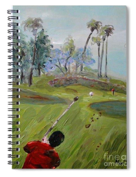 Golfing At Monarch Spiral Notebook