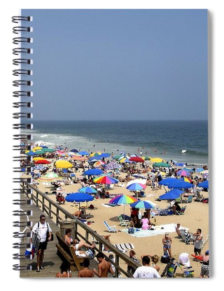Good Beach Day At Bethany Beach In Delaware Spiral Notebook