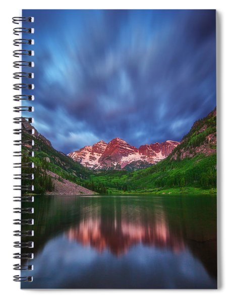 Good Morning Maroon Spiral Notebook
