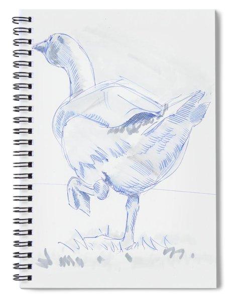 Goose Walking Spiral Notebook