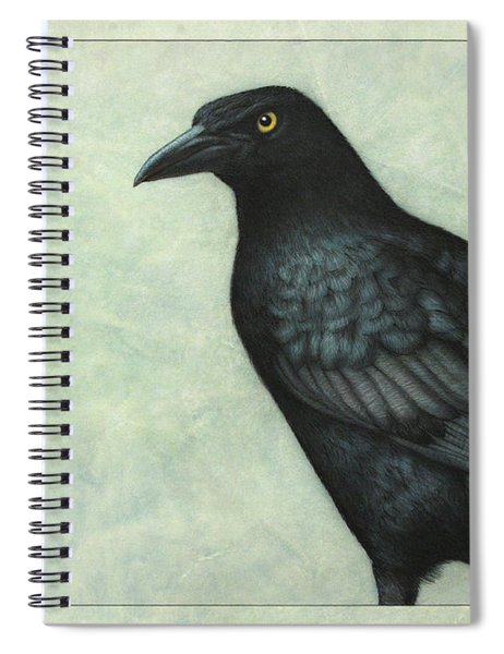 Spiral Notebook featuring the painting Grackle by James W Johnson
