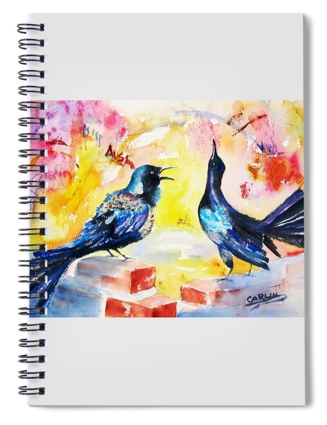 Grackles And Graffiti  Spiral Notebook