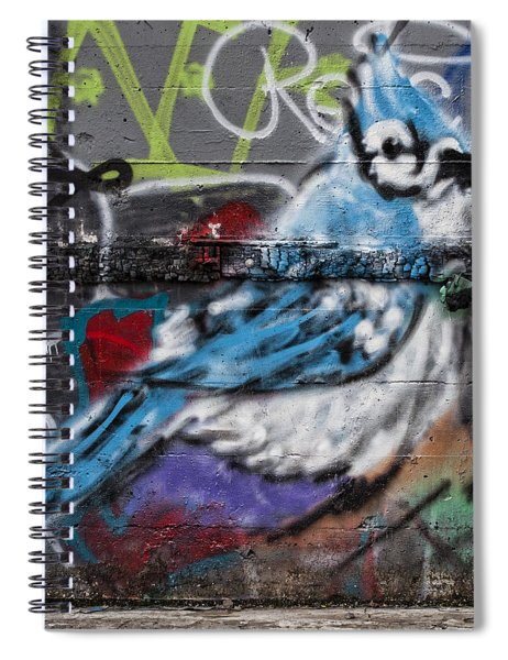 Graffiti Bluejay Spiral Notebook