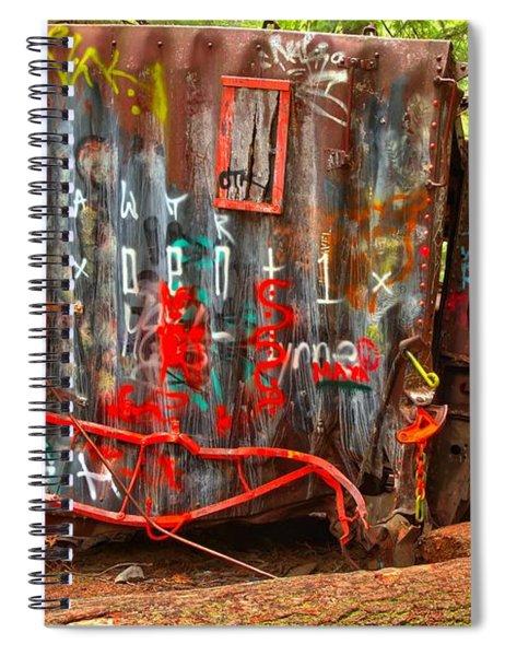 Graffiti On The Wreckage Spiral Notebook